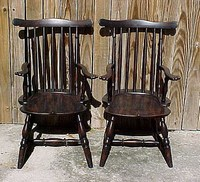 Black/Red Child's Windsor Chair