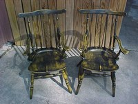 Black/Yellow Child's Windsor Chair