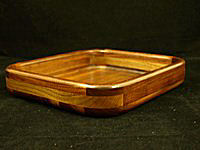 Black Walnut Square Bowl