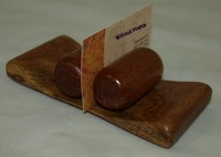 Mesquite Business Card Holder