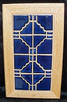 Large Cobalt Blue Ceramic Trivet