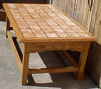Tossed Marble Tiled Coffee Table