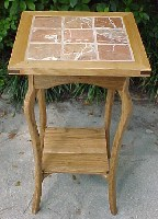 White Oak Tile Table