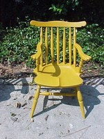Cherry Yellow Windsor Doll Chair